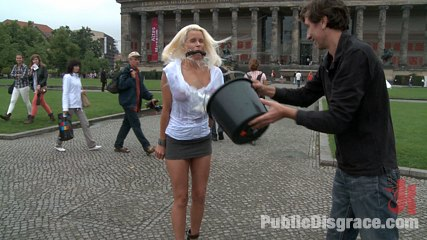 Best of europe beautiful german milf bound and fuck in public. Steve Holmes ties up and fucks a hot German Milf in the streets of Europe