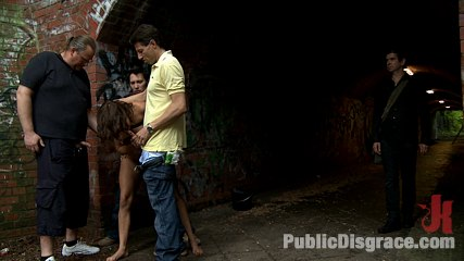 Money for clothes please. European hottie is fully nude, barefoot, and bound in the streets where everyone can see. Real public sex unlike anything you've seen! Join Now!