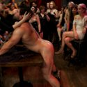 Maitresse Madeline invites 40 local girls, to The Armory to humiliate, punish and fuck a stripper boy for her birthday