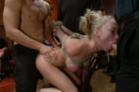 Madison Scott's perfect body is used and abused by guests at an Armory party. Pussy licking, cock sucking, hard fucking, bondage, and more!