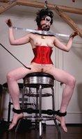 Radical BDSM poses with Lyssa.