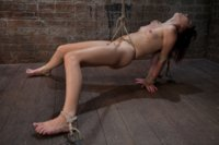 Welcome Emma Haize to Hogtied!  This 20yr old tiny thing is as sexy as they cum. This is her first day experiencing bondage at the professional leve