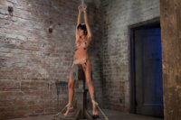 Extreme-pussy-torture-on-the-wooden-horse-Hard-flogging-a-brutal-zipper-and-now-its-fun