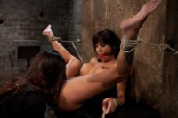 Sexy MILF is bound down, suffers hard caning & other foot torture, extreme nipple pain, & brutal fisting!<br> Massive squirt fest, as we MAKE her cum!