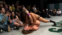 5 girl brutal rough sex gang bang on Ultimate Surrender.  The wrestling is over and now the winners will fuck the losers in front of the live crowd!