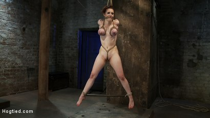 Huge-titted-19yr-old-suffers-a-category-5-suspension-Hung-by-boobs-elbows-and-pussy