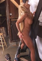 Lovely Janay gets full service taking the Fucksall in both holes.