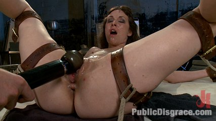 Bondage gang bang test shoot. Cute psych ward patient is gang banged by hospital staff! Double penetration in bondage, cock sucking bang, and more!