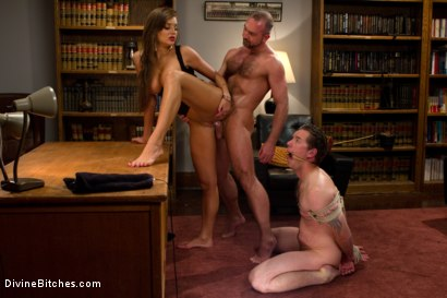 Sadistic-wife-cuckolds-husband-with-tantric-sex-specialist