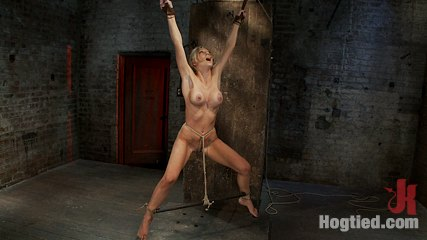 Tickling flogging caning   we make her cumshot over  overbrcrotch rope  suspend her from wrists. Hot blond MILF suffers multiple torments.  Tickling, flogging, caning.  We make her cumshot over & over, tie a crotch rope & suspend her from her wrists!