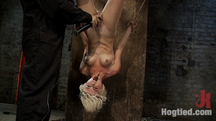 Super pleasant blond is torture cloths pins on her body are ripped off made to ejaculate over and over. Super beautiful blond, is hung upside down and tormented, cloths pins up & down her body are ripped off, made to ejaculate over and over...