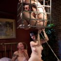 Kimberly Kane commands her cuckold to suck another man's cock to get it hard so she can fuck it!