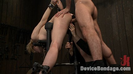 Super bitch 4 holes a plenty Lily is bent over, legs spread for bum plug, fisting. She takes a mean throat fucking. Nipples tied down and fuck hard. Orgasms galore.. Lily LaBeau,James Deen.