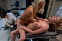 Lorelei Lee FISTS Lily Labeau's pussy while a machine fucks Lily's ASS, stuffing her to the max! Then double machine HARD fucking for the hot blonds