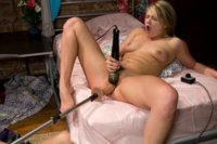 Heather dominates her BFF making her use a vibrator for the first time. Then she gets out her fucking machines and squirts all over her naked belly!