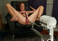 Audrey Leigh gets fucks machines that never run out of steam!
