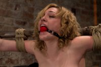 Former runway and fashion model is back and helpless.  This beauty suffers brutal bondage and powerful orgasms are ripped out of her helpless pussy.
