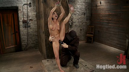 Horny all natural 20yr old with full c boobs does her first hogtied shoot  br love the cute ones. Lustful all natural 20yr old with full C tits does her first ever Hogtied shoot.  Uncomfortably bound, gagged, nipple clamped, & made to ejaculate & suffer!