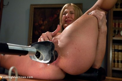 Amy Brooke taking two machines at the same time in her pussy and ass - cumming, squirting, fucking and more cumming with BIG cock. She IS a machine!