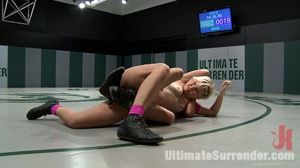 Two horny rookies battle it out to see who fucks who brchloe is beaten and then have intercourse heavy. Two libidinous rookies battle it out to see who fuck who.  Non-scripted Submission, sex wrestling at its best. Blonde gets her bottom kicked, she is not happy!