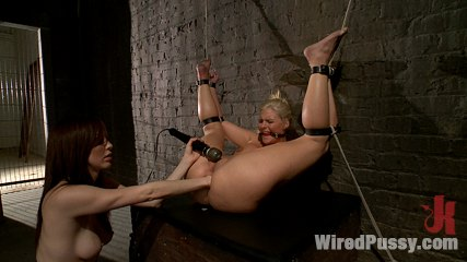 Phoenix marie gets her arse fisted in bondage. Pretty blonde with a luscious bubble anus gets tied up, shocked, made to cum, and fisted in her tight asshole!