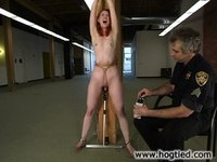 Kendra is tied to a beam after stealing the companys secrets