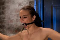 It's her first hardcore Bondage shoot.  Lets make it special & memorable shall we? Oh and she cums like a whore while gagged & suspended! Category 5!