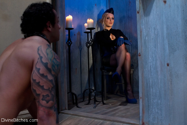 Strict dominatrix gives OTK, CBT, ass worship, raw milking and a hard strap-on ass fucking to a big hunk of slave meat.