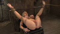 California-blond-with-huge-tits-has-them-bound-to-her-knees-and-spread-Made-to-squirt-and-scream