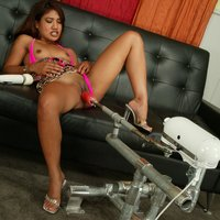 Lyla Lei gets a fucking machine in the pussy and the arse
