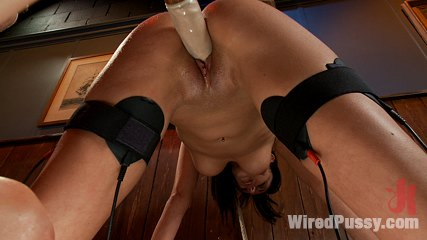A night of distraction. Breanne gets tied up and dominated with electricity in intense sapphic BDSM scene!