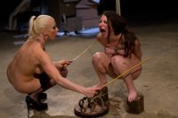 Submissive slut faces her fears in a kinky, perverted lesbian roleplay with punishment, spanking, multiple orgasms, ass worship & strap-on ass fucking