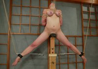 Ava fight against her ropes to try and avoid multiple orgasms.
