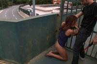 Tight, tan, Sara May gets humiliated in the street, fucked in every hole, and covered in cum.