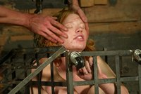 Madison gets tied and whipped in the basement.