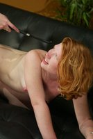 Hot redhead bent over and fucked in the ass by Chanta Rose