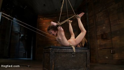 Severely-bound-into-a-brutal-hogtie-and-pulled-to-the-breaking-point-Made-to-cum-over-and-over