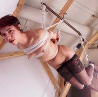 Viva tied upside-down.