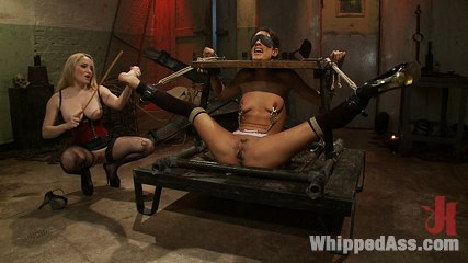 Shy slut All natural tall 22 year old tries BDSM for the first time getting fisted and castigate til she squirts!. Aiden Starr,Lyla Storm.