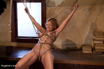 Hot-blond-has-clothespins-flogged-off-her-breasts-fucked-with-a-stick-vibrated-and-made-to-cum