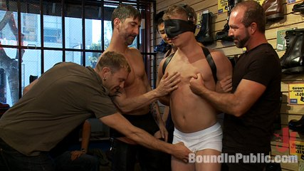 Use and humiliate a blond stud at stompers boots. Micah Andrews gets used and humiliated at Stompers Boots.