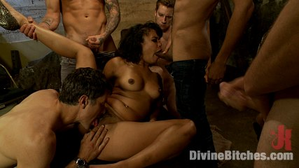 Cuckold gangbang. Annie Cruz has an intense gangbang in front of her boyfriend in order to humiliate and cuckold him.