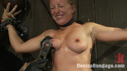 Nipple brutality on the sybian until sweaty and wrecked. Dia Zerva and Ariel X on sybians with severe nipple bondage. Bondage sluts are flogged voluminous and whipped hard. Nipples cinched tight during orgasms.