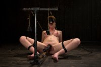 Red-Hair-Fair-Skin-finger-fucked-machine-fucked-extreme-nipple-play-hot-wax-hard-caning