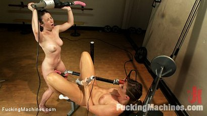 Fitness-Sex-Make-Her-Sweat-Make-Her-Cum-with-Machines