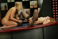 Jade Marxxx and Jasmine together in a fuck machine session.