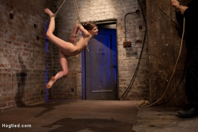Tiny-shaved-cutie-bound-tightly-and-made-to-cum-while-in-tip-toe-suspension