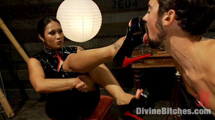 From worthless to worthy in five mistresses episode 4 chastity woes. Seductive femdom frustrates, teases and denies slaveboy until he thinks he will cumshot in his chastity belt.
