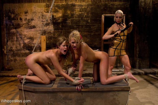 Two nosy co-ed's have a run in with a hot blonde lesbian dominatrix and end up bound, punished and fucked in all holes!