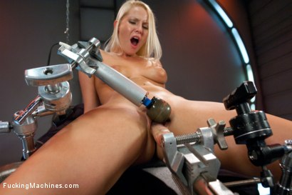 Hot Blond with an endless supply of pussy fucking orgasms takes on 3 high powered, custom machines that fuck her to exhaustion.